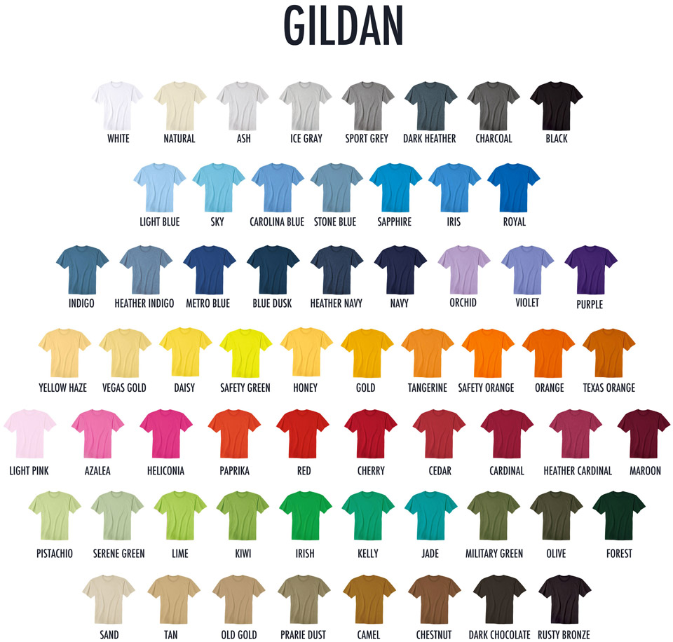 Buy Gildan Color Chart 64 Off Share Discount